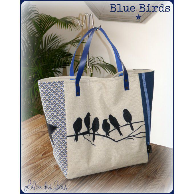 Cabas Blue birds