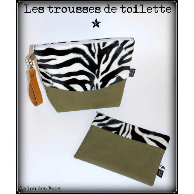 Ensemble de toilette Zèbre